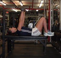 Gina Paolino, chest press, form